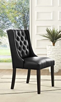 Baronet Dining Chair Vinyl dining chair 1 only modway
