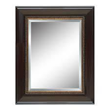 style selections mirror wood frame distressed java beveled glass