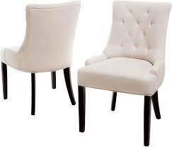 Hayden Contemporary Tufted Fabric Dining Chairs set of 2 by Christopher Knight Home beige