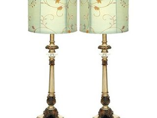 Metal Buffet lamps set of 2