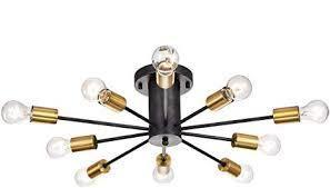 jojo spring light fixture black and gold