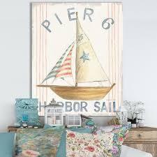 Designart  RW Floursack Nautical VII  Cottage Canvas Wall Art  Retail 102 49