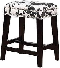 linon black cow counter stool