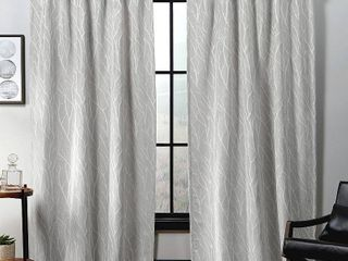 Exclusive Home Curtains Forest Hill Woven Blackout Hidden Tab Top Curtain Panel Pair  52  x 96