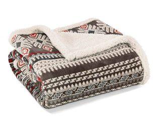 Throw Blankets Eddie Bauer 50X60 Inches Gray Shadow Red Buff Beige