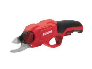 Sun Joe PJ3600C RED Cordless Rechargeable Power Pruner 3 6 V A 2000 mAh 0 6 Sec Rapid Cutting