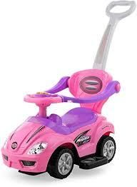 ride on cars baby 3 in 1 car stroller pink