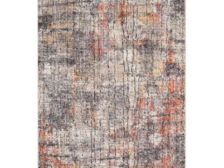 loloi Rugs MEDUMED 07 2440 Graphite   Sunset Medusa 2 1 4  X 4  Polyester Abstract