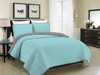 Morgan Home Fashions Asher Home Aaron Reversible 3 piece Quilt Set