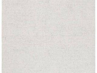 MlP537F 9 9 x 12 ft  Micro loop Rectanglar Handmade Wool Rug   light Grey   Ivory