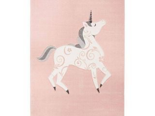 Safavieh Carousel Kids Pink Ivory 5 ft  x 5 ft  Square Area Rug