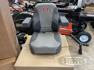 Gravley leather Seat w Folding arms 1 jpg