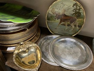 Silver Plated Trays  Gold Charger Plates  etc