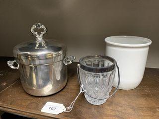 Ice Buckets and Utensil Crock