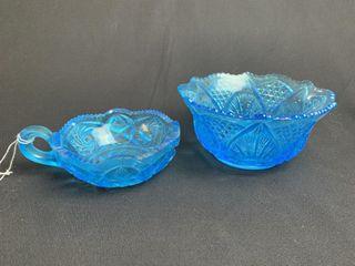 Blue Depression Glass Dishes