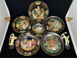 6   Bradley Exchange Plates   Figurines