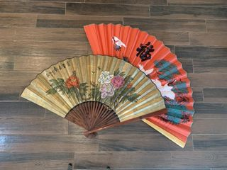 2   large Oriental Fans