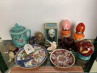 Egg Ornaments  Plates  Stone Figurines