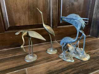 Metal Crane Figurines