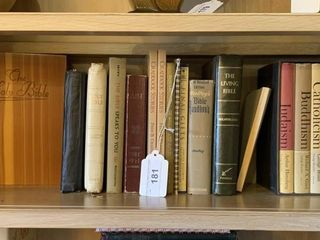 Holy Bibles  Contents of Shelf