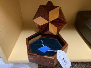 Wooden Hexagon Curio Box