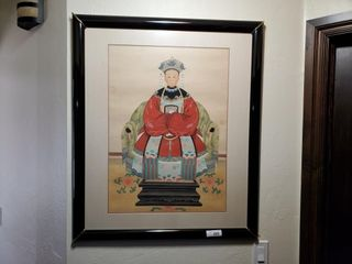 Chinese Export Framed Painting