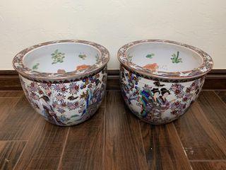 2   Decorative Japanese Planters
