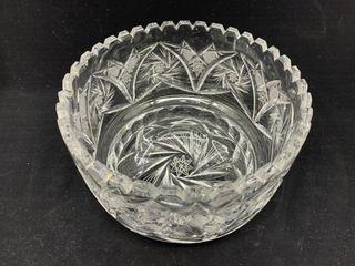 Vintage Cut Glass Fruit Bowl