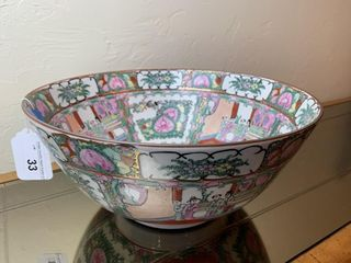 Antique Chinese Export Rose Medallion Bowl