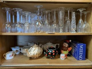 Glassware  Cups  Bavarian China  Teapots