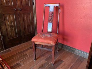 Wood High Back Oriental Chair