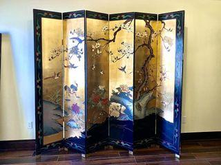Oriental 6 Panel Room Divider