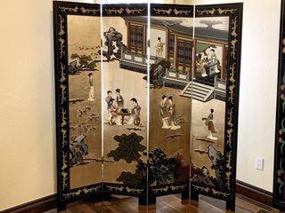 Oriental 4 Panel Room Divider