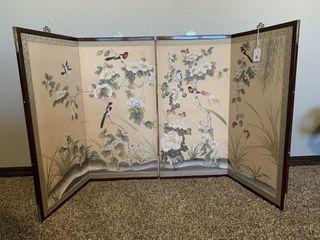 Oriental Decorative 4 Panel Divider