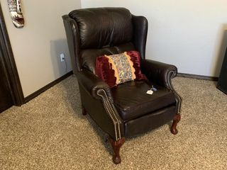 leather High Back Recliner