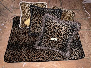 Animal Print Throw Pillows and Table Topper