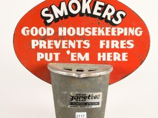 RARE SMOKERS GOOD HOUSEKEEPING RECEPTAClE   SIGN