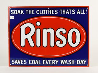 RINSO  SAVES COAl EVERY WASH DAY  SSP SIGN