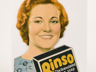 RINSO GRANUlATED SOAP S S CARDBOARD ADVERTISING