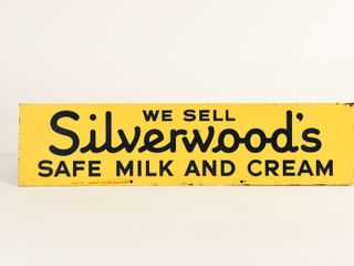WE SEll SIlVERWOOD SAFE MIlK   CREAM RACK SIGN