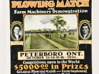 REPRODUCTION1931 INTERNATIONAl PlOWINGMATCH PAPER
