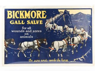 BICKMORE GAll SAlVE FOR WOUNDS CARDBOARD POSTER