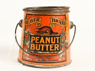 BEAVER BRAND PEANUT BUTTER ONE POUND PAIl