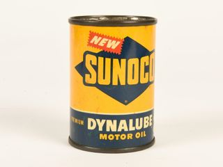 NEW SUNOCO DYNAlUBE MOTOR OIl 4 OZS  SAVING BANK