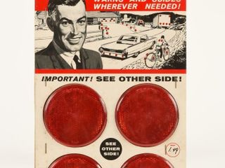 1964 NEW SPARKlING SAFETY REFlECTORS D S DISPlAY