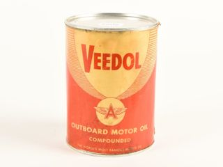 VEEDOl OUTBOARD MOTOR OIl COMPOUNDED U S  QT  CAN