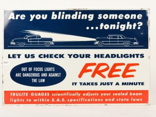 lET US CHECK YOUR HEADlIGHTS FREE SST SIGN