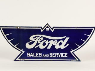 RARE FORD SAlES AND SERVICE DSP DIECUT SIGN