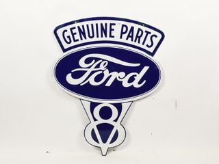 FORD V 8 GENUINE PARTS DIECUT DSP SIGN