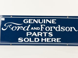 GENUINE FORD   FORDSON PARTS SOlD HERE SSP SIGN
